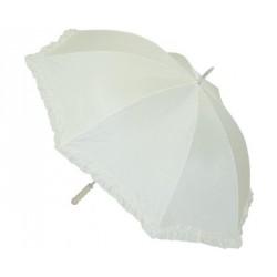 Ombrelle du Bonheur Parapluie de mariage tissu blanc
