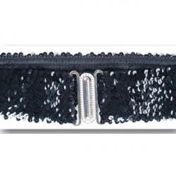ceinture-elastique-paillettes-noires-boucle-argentee