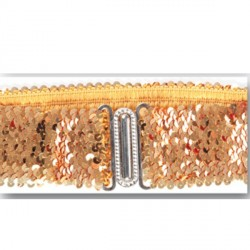 ceinture-elastique-paillettes-dorees-boucle-argentee