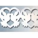 Guirlande colombes et cœurs blancs 360 cm