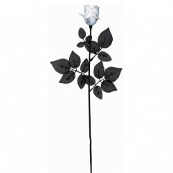 fleur-sur-tige-rose-blanche-ensanglantee-en-tissu-rose-d-hallowe