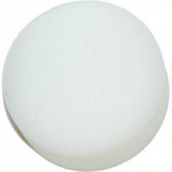 Eponge blanche ronde de maquillage