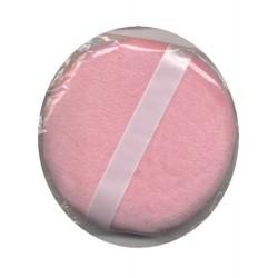 Houppette ronde rose de maquillage 10 cm