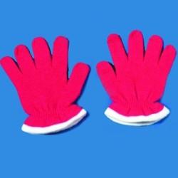 gants-courts-enfant-tricot-rouge-bordure-blanche