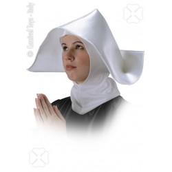 Coiffe de bonne sœur religieuse cagoule et cornette blanches