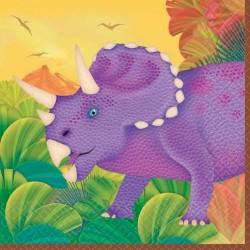 16-petites-serviettes-prehistoric-party-25-x-25-cm-dinosaures
