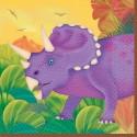 """16 petites serviettes """"prehistoric party"""" 25 x 25 cm dinosaures"""