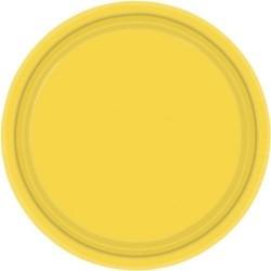 20-assiettes-plates-en-plastique-jaune-soleil-o-23-cm