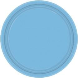 20-assiettes-plates-en-plastique-bleu-pale-o-23-cm
