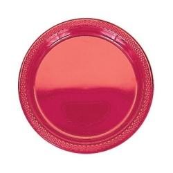 20-assiettes-plates-en-plastique-rouge-o-23-cm