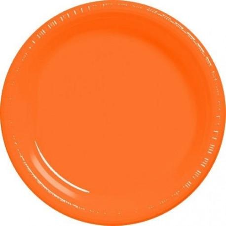 20-assiettes-plates-en-plastique-orange-o-23-cm