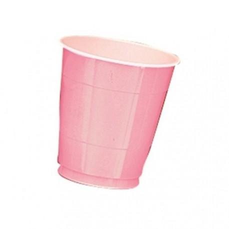 20-gobelets-plastique-rose-clair-354-ml-interieur-blanc