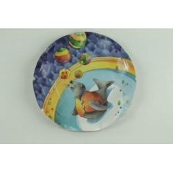 10-assiettes-plates-festonnees-motifs-cirque-o-24-cm