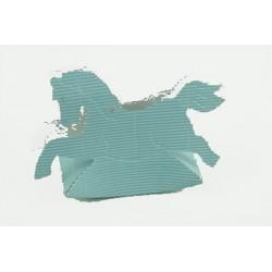 Cheval à bascule bleu turquoise clair pour dragées ou friandises
