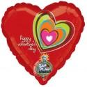 Ballon musical en papier aluminium Motif Saint-Valentin