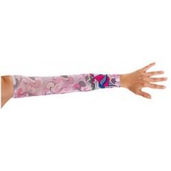 faux-tatouage-tons-de-rose-coeur-et-ailes-tattoo-sur-1-manche