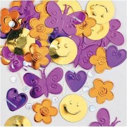 confettis-de-table-a-relief-girl-power-fleurs-papillons-coeurs-