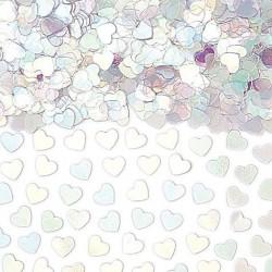 confettis-de-table-petits-coeurs-transparents-irises