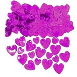 confettis-de-table-coeurs-en-plastique-metallise-fuchsia-a-relief