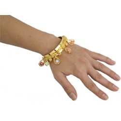bracelet-ouvert-pierres-en-cage-acier-dore