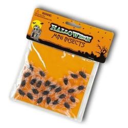24-mouches-en-caoutchouc-transparent-ventre-noir