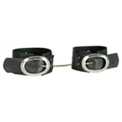 Menottes en faux cuir handcuffs avec avec chaine