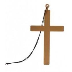 croix-geante-en-plastique-dore-avec-cordon-noir
