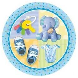 8-assiettes-naissance-bapteme-o-178-cm-elephant-bleu