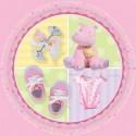 8 assiettes naissance bapteme Ø 17.8 cm hippopotame rose