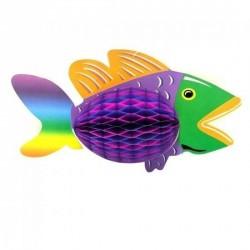 poisson-exotique-multicolore-en-papier-alveole