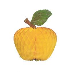 1-pomme-en-papier-alveole-jaune-decoration-36-cm