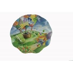 2-grands-plats-ronds-cirque-et-montgolfiere-o-40-cm