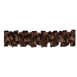 1-metre-de-ruban-satin-ruche-marron-chocolat-sur-elastique