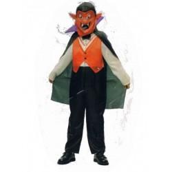 Dracula avec masque de diable 8 ans déguisement costume d'Halloween et carnaval