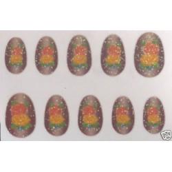 10-faux-ongles-souples-autocollants-rose-orange-et-rouge