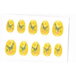 10-faux-ongles-souples-autocollants-jaune-d-or-fleurs-papillons