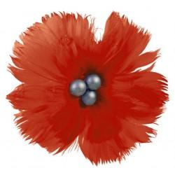 superbe-fleur-en-plumes-naturelles-rouge-clair