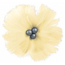 superbe-fleur-en-plumes-naturelles-ivoire