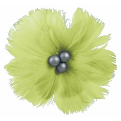 superbe-fleur-en-plumes-naturelles-vert-anis