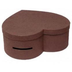 urne-en-forme-de-coeur-marron-boite-qui-s-ouvre