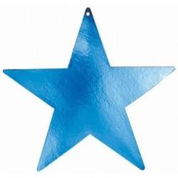 5-decoupes-etoiles-bleu-metallise-38-cm