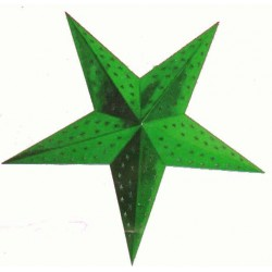 etoile-en-carton-vert-metallise-a-suspendre