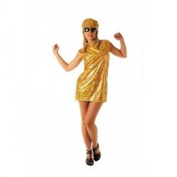 robe-laser-dore-annees-70-avec-casquette-assortie