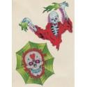 Tatoo squelette fantôme crâne toile d'araignée