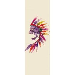Tatoo crâne tête d'indien avec plumes