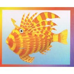 poisson-tigre-exotique-jaune-et-orange-papier-alveole