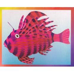 poisson-tigre-exotique-rose-et-violet-papier-alveole