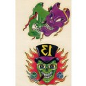 Tatoo méchants masques crâne joueur numéro 13