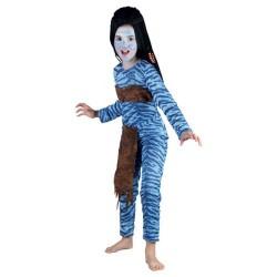 femme-bleue-de-la-jungle-guerriere-fillette-taille-9-a-10-ans