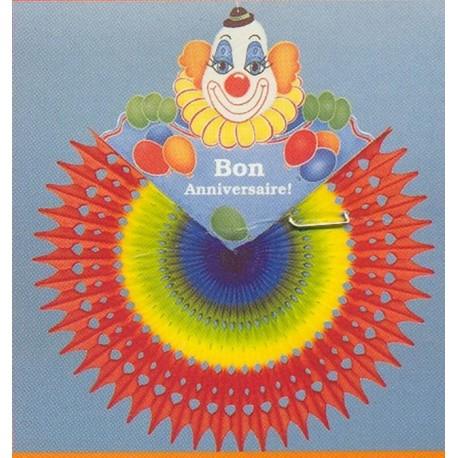 eventail-clown-bon-anniversaire-arc-en-ciel